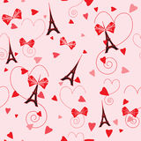 Romantic seamless vector pattern Royalty Free Stock Photography