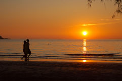 Romantic. Love romantic on the beach royalty free stock photography