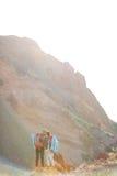 Romantic Adventure in Mountains Stock Image