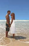 Romantic African American Couple Holding Hands on Stock Photo