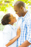 Romantic african couple Stock Image