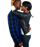 Romantic african couple making love Royalty Free Stock Image