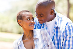 Romantic african couple Royalty Free Stock Images