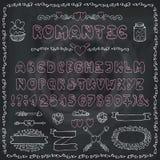 Romantic Alphabet.Heart Font,ABC Letters,decor. Modern Vector Romantic Alphabet. Love doodle Font.Hand drawn ABC Letters. Decorative elements,heart decoration vector illustration