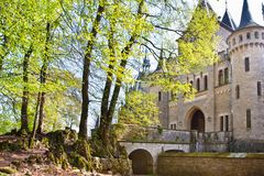 Romantic ancient  castle Marienburg Stock Photography