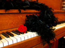Romantic Antique Piano Royalty Free Stock Photo