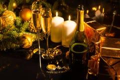 Romantic arrangement for celebrating New Year Stock Photo