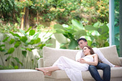 Romantic Asian Couple Stock Photo
