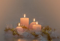 Romantic. Atmosphere with candles Royalty Free Stock Photos