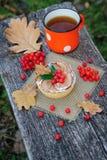Romantic autumn still life Stock Photos