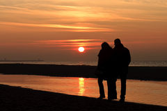 Romantic Autumnal Sun Set Royalty Free Stock Image