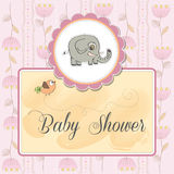 Romantic baby announcement card Royalty Free Stock Photo
