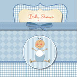 Romantic baby boy shower card Royalty Free Stock Images