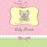 Romantic baby girl announcement card Royalty Free Stock Photography