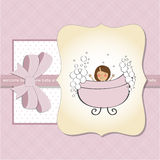 Romantic baby girl shower card Stock Photos