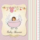 Romantic baby girl shower card Royalty Free Stock Image