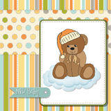 Romantic baby shower card Royalty Free Stock Images