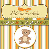 Romantic baby shower card Royalty Free Stock Photography
