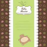 Romantic baby shower card Stock Images