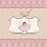 Romantic baby shower card Royalty Free Stock Photos