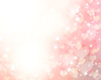 Romantic background. Abstract romantic background with hearts and stars stock illustration