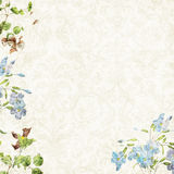 Romantic background 12x12. Digitally created background, 12x12, Romantic flowers vector illustration