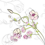 Romantic background. With pink flowers Royalty Free Stock Images