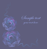 Romantic-background. Wedding card with flowers in violet tones Royalty Free Stock Photos