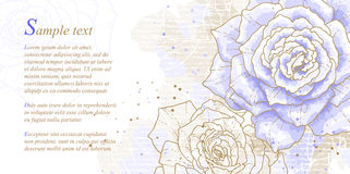 Romantic background with blue roses royalty free illustration