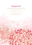 Romantic background with chrysanthemum vector illustration