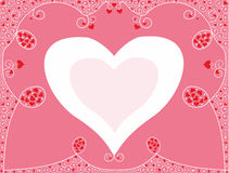 Romantic background for congratulation with hearts Royalty Free Stock Photo