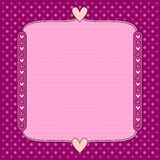 Romantic background with dots and hearts Royalty Free Stock Images