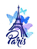 Romantic background with Eiffel Tower Royalty Free Stock Photos