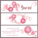 Romantic background with flower Royalty Free Stock Photos