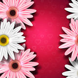 Romantic background with gerberas Royalty Free Stock Photos