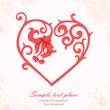Romantic background with heart Royalty Free Stock Photos