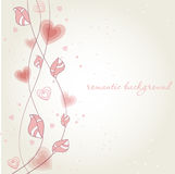 Romantic background with heart flower Royalty Free Stock Images