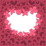 Romantic background with heart wreath Stock Image