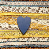 Romantic background with hearts. Romantic background with blue hearts and yellow ribbons stock photography