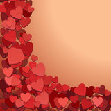 Romantic background with hearts Royalty Free Stock Photography