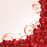 Romantic background with hearts vector illustration