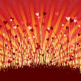 Romantic background with hearts Royalty Free Stock Image
