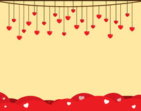 Romantic background with hearts Stock Images