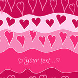 Romantic background. With hearts and color waves Royalty Free Stock Photos