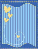 Romantic Background with hearts and stripes Stock Photography