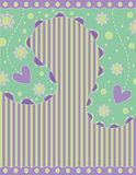 Romantic background with hearts and stripes Stock Photo