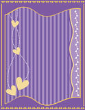 Romantic background with hearts and stripes Royalty Free Stock Photos