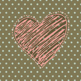 Romantic background with illustrated heart Royalty Free Stock Photo