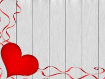 Romantic background with red decorations. royalty free illustration