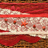 Romantic background with a red star. And ribbons Royalty Free Stock Photo